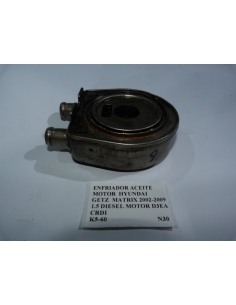 Enfriador aceite motor Hyundai Getz Matrix 2002 - 2009 1.5 Diesel Motor D4EA CRDI