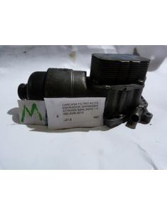 Carcasa filtro de aceite enfriador 9656969980 Citroen Berlingo 1.6 HDI 2005 - 2010