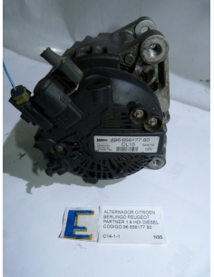 Alternador Citroen Berlingo Peugeot Partner 1.6 HDI Diesel codigo: 96 656177 80