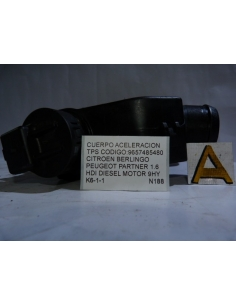 Cuerpo Aceleracion TPS codigo: 9657485480 Citroen Berlingo Peugeot Partner 1.6 HDI Diesel Motor 9HY