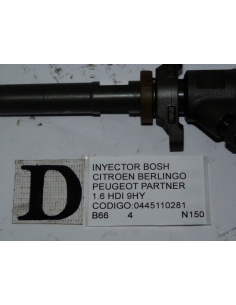 Inyector Bosch Citroen Peugeot 1.6 HDI 9HY