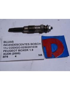 Bujia Incandescente Bosch 11v codigo: 0250201039 Pugeot Boxer 1.9 XUD9 2000