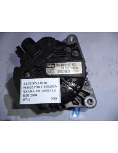 Alternador Citroen Xsara Picasso 1.6 HDI 2008 codigo: 9646321780