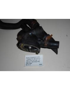 Base termostato 7700866730 Renault Megane Scenic 1.9 Diesel Motor F9Q 2002 - 2005