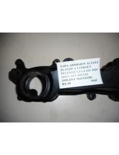 Tapa admision aceite plastica Citroen Peugeot C3 1.4 16V HDI 66KW 8HY Diesel 2008 - 2014 9641543280