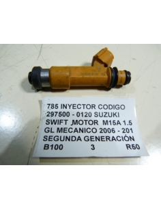 INYECTOR CODIGO 297500 - 0120 SUZUKI SWIFT MOTOR M15A 1.5 GL MECANICO 2006 - 201 SEGUNDA GENERACIÓN