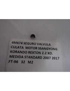 SEGURO VALVULA CULATA MOTOR SSANGYONG KORANDO REXTON 2.2 XD. MEDIDA STANDARD 2007 2017