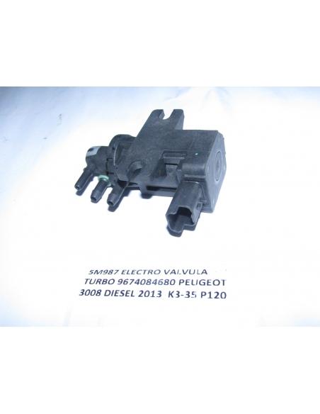 ELECTRO VALVULA TURBO 9674084680 PEUGEOT 3008 DIESEL 2013